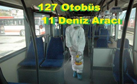 127 Otobüs, 11 Deniz Aracı İlaçlandı