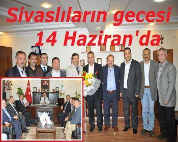Sivas lılardan Başkan Karabacaka ziyaret